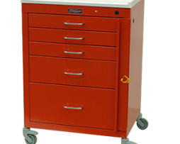 Harloff 4145B Mini24 Line 5 Drawer Emergency Cart