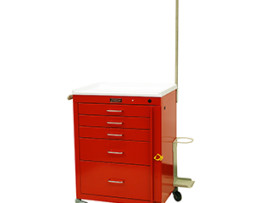 Harloff 4145B-EMG Mini24 Line 5 Drawer Emergency Cart