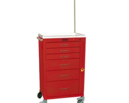 Harloff 4156B-EMG Mini24 Line 6 Drawer Emergency Cart