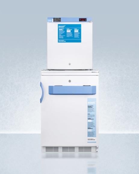 Summit FF7L-FS24LSTACKMED2 Medical Refrigerator Freezer