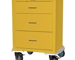 Harloff 4243K Mini24 Line Three Drawer Infection Control Cart