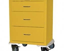 Harloff 4243K Mini24 Line 3 Drawer Infection Control Cart