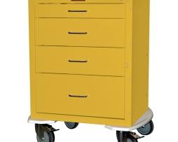 Harloff 4244K Infection Control Cart Mini24 Line Four Drawer