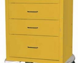 Harloff 4244K Mini24 Line 4 Drawer Infection Control Cart