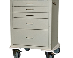Harloff 4245E Mini24 Line 5 Drawer Anesthesia Cart