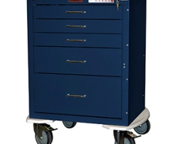 Harloff 4245EKC Mini24 Line 5 Drawer Anesthesia Cart