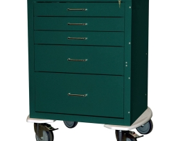 Harloff 4245ELP Anesthesia Cart Mini24 Line Five Drawer