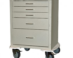Harloff 4245K Mini24 Line 5 Drawer Anesthesia Cart