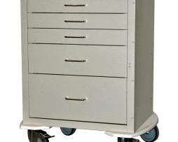 Harloff 4245K Anesthesia Cart Mini24 Line Five Drawer
