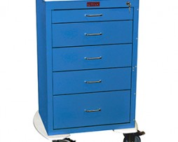 Harloff 4255K Mini24 Line 5 Drawer Anesthesia Cart