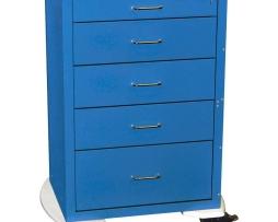 Harloff 4255K Anesthesia Cart Mini24 Line Five Drawer