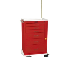 Harloff 4256B-EMG Mini24 Line 6 Drawer Emergency Cart