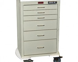 Harloff 4256E Mini24 Line 6 Drawer Anesthesia Cart
