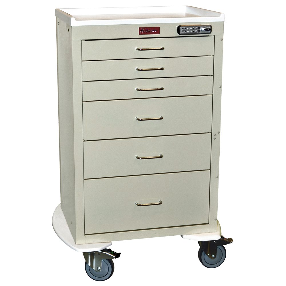 Harloff 4256e Mini24 Line 6 Drawer Anesthesia Cart On Sale
