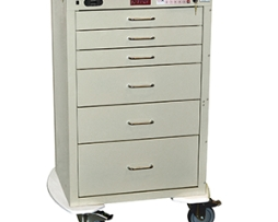 Harloff 4256ELP Mini24 Line 6 Drawer Anesthesia Cart