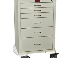 Harloff 4256K Mini24 Line 6 Drawer Anesthesia Cart