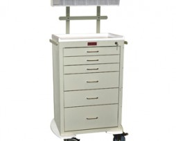 Harloff 4256K-ANS Mini24 Line Six Drawer Anesthesia Cart