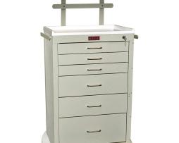 Harloff 4256K-ANS Anesthesia Cart Mini24 Line Six Drawer