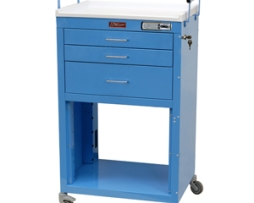 Harloff 4736E Mini24 Line Three Drawer Instrument Cart