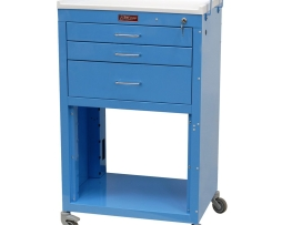 Harloff 4736K Mini24 Line Three Drawer Instrument Cart