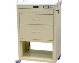Harloff 4746E Mini24 Line Three Drawer Instrument Cart