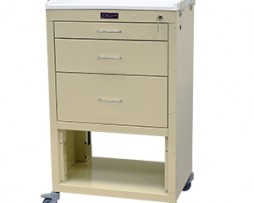Harloff 4746K Mini24 Line Three Drawer Instrument Cart