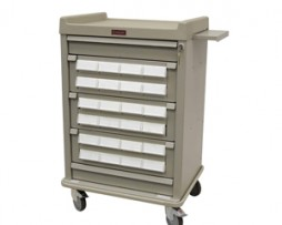 Harloff AL24CS-5 Patient Bin Cassette Medication Cart