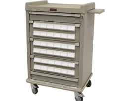 Harloff AL36CS-3 Patient Bin Cassette Medication Cart