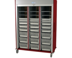 Harloff MS8160-VASC Triple Column Vascular Medical Storage Cart