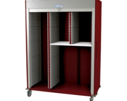 Harloff MS8160L-SPLITA Triple Column Medical Storage Cart