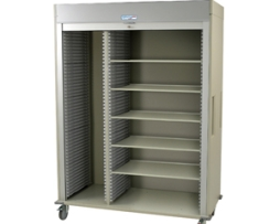 Harloff MS8160SH-L Triple Column Medical Storage Cart