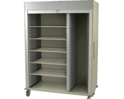 Harloff MS8160SH-R Triple Column Medical Storage Cart