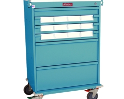 Harloff VLT12BIN5 Value Line Medication Bin Cart Key Lock
