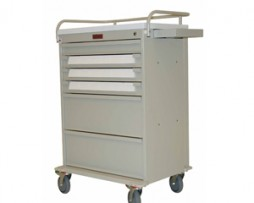 Harloff VLT18BIN3 Value Line Medication Bin Cart Key Lock