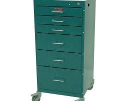 Harloff 3156K Mini Line Six Drawer Treatment Procedure Cart