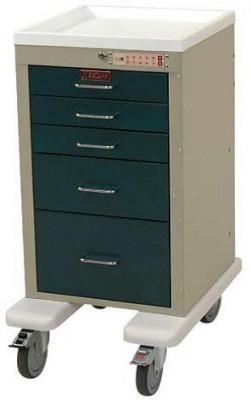 Harloff AL3245EKC Mini Line Five Drawer Treatment Procedure Cart