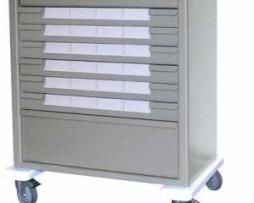 Harloff AL8W10K24BIN5 Aluminum Med-Bin Medication Cart