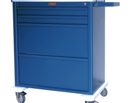 Harloff AL8W10K4DSP Aluminum Dispill Compatible Medication Cart