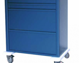 Harloff AL8W10K4DSP Aluminum Universal Line Medication Cart