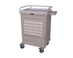 Harloff VLT30BIN3 Value Line Med-Bin Medication Cart