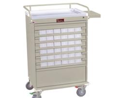 Harloff VLT36BIN3 Value Line Med-Bin Medication Cart