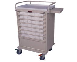 Harloff VLT42BIN3 Value Line Med-Bin Medication Cart