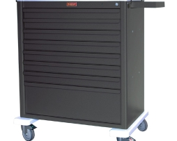 Harloff AL8W10K8 Aluminum Eight Drawer Treatment Procedure Cart