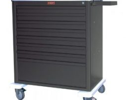 Harloff AL8W10K8 Universal Line Eight Drawer Aluminum Treatment Cart