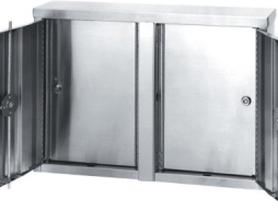Omnimed 181801 Twin Double Door Stainless Steel Narcotic Cabinet