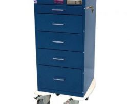 Harloff 3255E Mini Line Five Drawer Anesthesia Cart