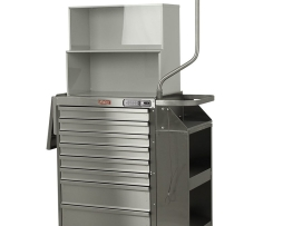 Harloff 6025E-TC Cast Cart Stainless Steel Eight Drawer