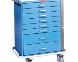 Harloff 6600 Classic Line Eight Drawer Standard Anesthesia Cart
