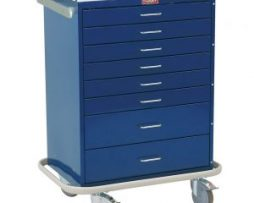 Harloff 6610 Classic Line Eight Drawer Standard Anesthesia Cart