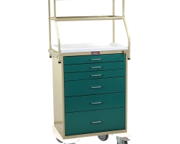 Harloff 6650 Classic Line Six Drawer Monitor Anesthesia Cart